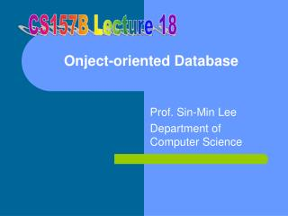 Onject-oriented Database
