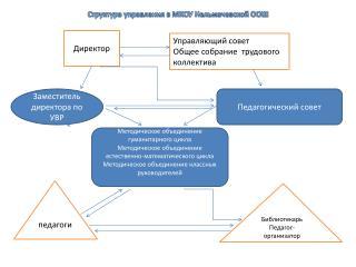 Структура управления в МКОУ Нельмачевской ООШ