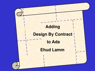 Adding Contracts to Ada