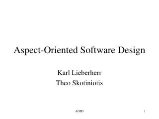 Aspect-Oriented Software Design