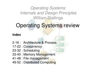 Operating Systems review