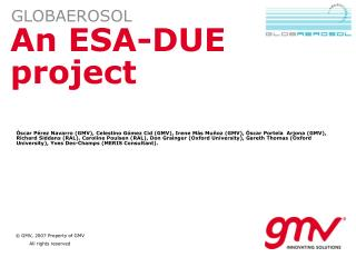 An ESA-DUE project