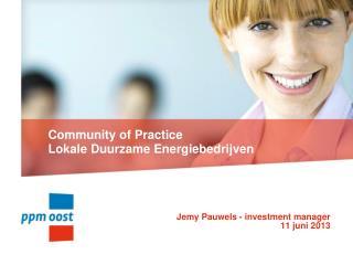 Community of Practice Lokale Duurzame Energiebedrijven