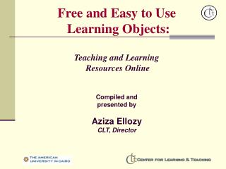 Free and Easy to Use  Learning Objects: Teaching and Learning  Resources Online