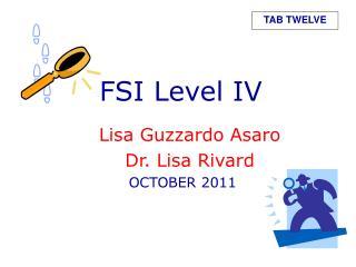 FSI Level IV