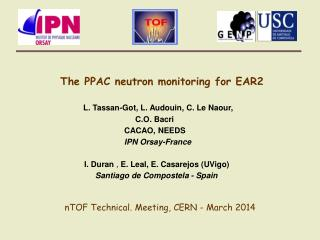 The PPAC neutron monitoring for EAR2