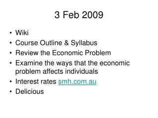 3 Feb 2009