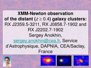 XMM-Newton observation  of the distant ( z    0.4 ) galaxy clusters: