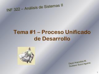 Tema #1 – Proceso Unificado de Desarrollo