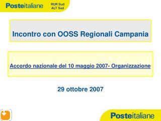 Incontro con OOSS Regionali Campania