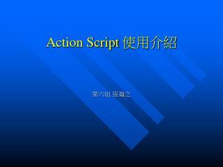 Action Script  使用介紹