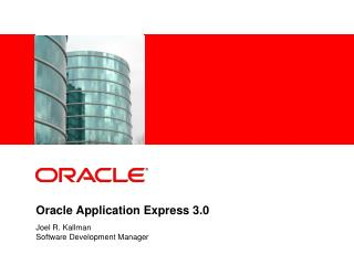 Oracle Application Express 3.0