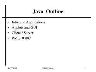 Java  Outline