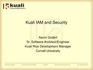 Kuali IAM and Security