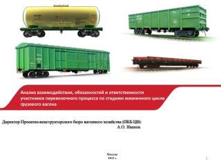 Директор Проектно-конструкторского бюро вагонного хозяйства (ПКБ ЦВ)