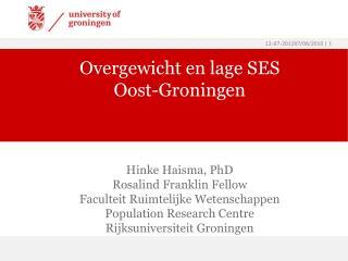 Overgewicht en lage SES Oost-Groningen