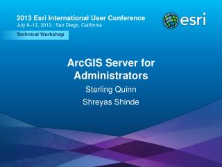 ArcGIS Server for Administrators