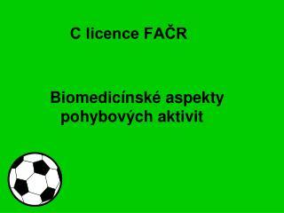 C licence FAČR