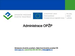 Administrace OPŽP