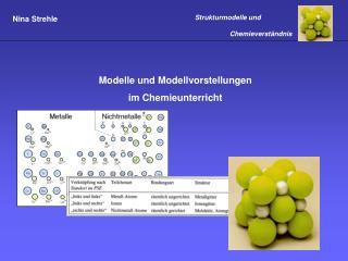 Modelle und Modellvorstellungen im Chemieunterricht