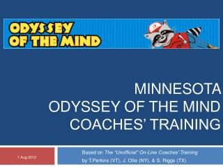 Minnesota  Odyssey of the Mind  Coaches' Training
