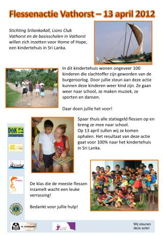 Flessenactie Vathorst  – 13  april  2012