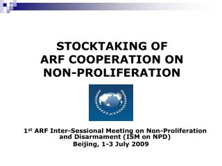STOCKTAKING OF  ARF COOPERATION ON  NON-PROLIFERATION