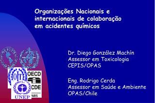 Organizações Nacionais e  internacionais de colaboração  em acidentes químicos