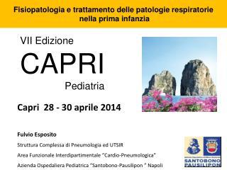 VII Edizione CAPRI                 Pediatria