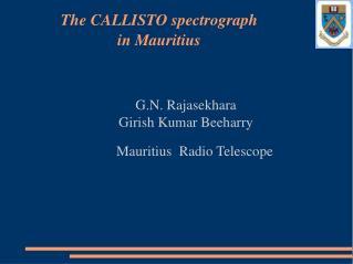 G.N. Rajasekhara Girish Kumar Beeharry      Mauritius  Radio Telescope