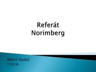 Referát Norimberg