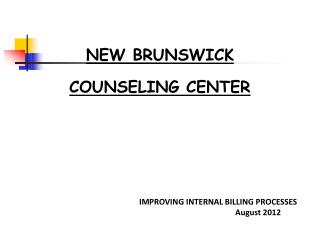 NEW BRUNSWICK COUNSELING CENTER