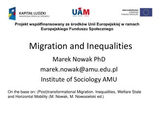 Migration and Inequalities