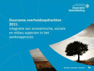 Duurzame overheidsopdrachten 2011: