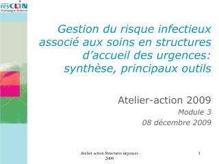 Atelier-action 2009 Module 3 08 décembre 2009
