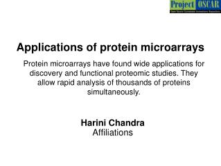 Applications of protein microarrays