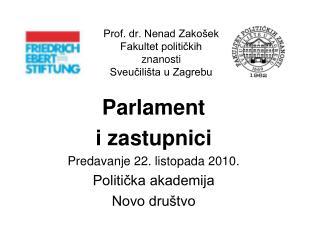 Prof. dr. Nenad Zakošek Fakultet političkih znanosti Sveučilišta u Zagrebu