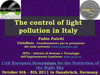 The control of light pollution in Italy