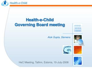 HeC Meeting, Tallinn, Estonia, 10-July-2008