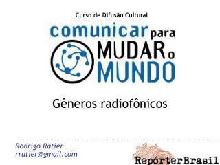 Gêneros radiofônicos