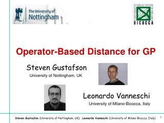 Operator-Based Distance for GP