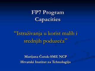 FP7 Program Capacities