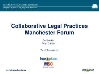 Collaborative Legal Practices Manchester Forum