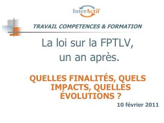 TRAVAIL COMPETENCES & FORMATION