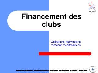 Financement des clubs
