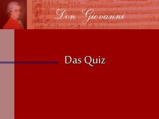 Das Quiz