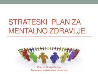 S trateski  plan za  mentalno zdravlje