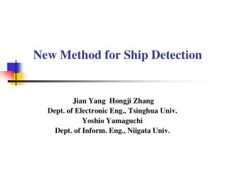 New Method for Ship Detection