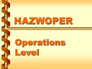 HAZWOPER