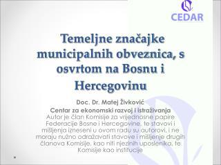 Temeljne značajke municipalnih obveznica, s osvrtom na Bosnu i Hercegovinu